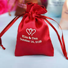 personalized favor bags 3x4 personalized satin drawstring bags 100 pack efavormart