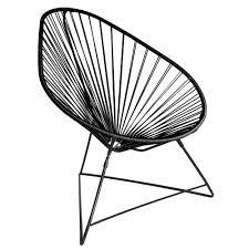fauteuil en corde fauteuil acapulco noir boqa design