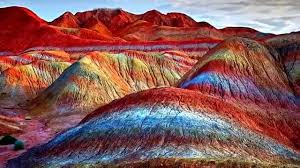 natural wonders rainbow mountains china youtube