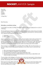 consultation letter arrange a redundancy consultation