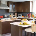 Kitchen Neutral Paint Colors - white creamy cabinets neutral greige wall color nice wood island