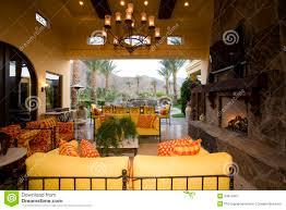 Luxury Livingroom Luxury Living Room With Garden In Background Stock Image Image