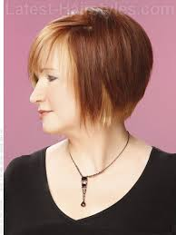 just below the chin length bob haircut straight sassy bob with highlights and bangs side view beauty