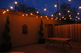 Patio Floor Lights by Patio White Hanging Lampion As Patio Light Strings Hanged To