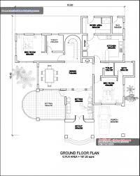 house ground floor plan design kerala style single floor house