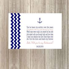will you be my bridesmaid poem diy printable chevron anchor nautical will you be my bridesmaid