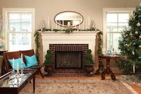 fireplace great christmas mantel decor with christmas garland and