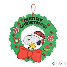peanuts christmas christmas wreath craft kit