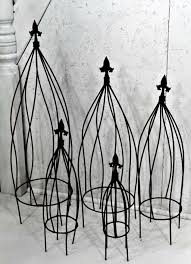 wrought iron twist flower garden trellis 5 sizes