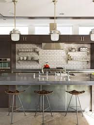 kitchen backsplash contemporary trendy backsplash tiles metallic