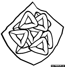 purim coloring pages 1