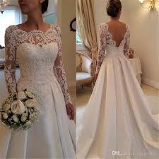 beautiful wedding dresses beautiful wedding gown scoop neck backless sleeve