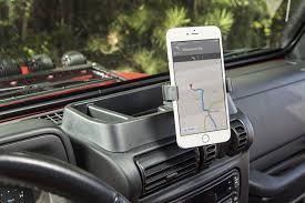 jeep wrangler custom dashboard jeep wrangler tj lj dash phone holder mount kit 1997 2006 13551 19