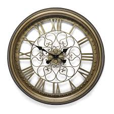 brass cut out wall clock at laura ashley
