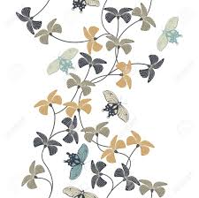 stylish pattern with decorative flowers and butterflies for your