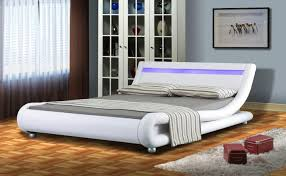 summer clearance faux leather bed frame with led display 4ft6 5ft