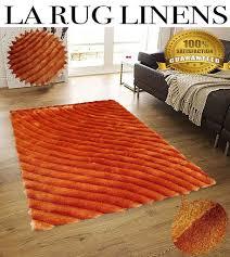 Orange Shag Rugs Shaggy Viscose Vibrant Lines Design Shag Rug Orange 8x10 U2013 La Rug