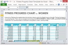 Workout Excel Template Fitness Progress Chart Template For Excel