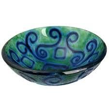 blue glass vessel sink aqua blue glass vessel bowl sink free shipping today overstock