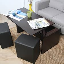 cute coffee table with ottoman seating 55 on home decoration ideas