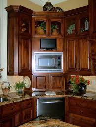 cabinets u0026 drawer brown kitchen corner cabinet design ideas
