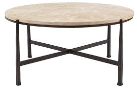 round metal cocktail table base and stone top bernhardt