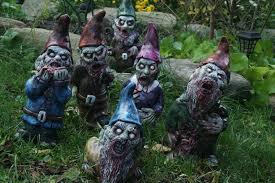 halloween garden gnomes zombie gnomes of the apocalypse u2013 thoughtvoid
