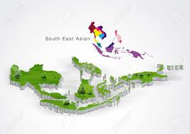 Map Of Se Asia by Map Of South East Asia Stock Photo Picture And Royalty Free Image