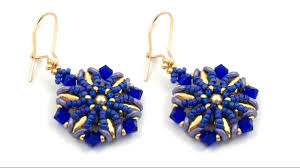 royal blue earrings beading4perfectionists royal blue earrings beading tutorial
