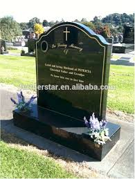 granite headstones jet black granite headstones and base gold inscription buy black