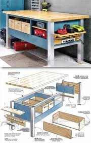 5 Workbench Ideas For A Small Workshop Workbench Plans Portable by Table Workbench Ideas Amazing Workshop Table Plans Heavy Duty