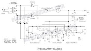 12v battery charger using scr