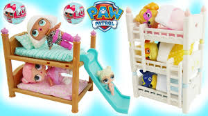 lol surprise bunk beds house paw patrol baby skye toy