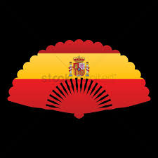 spanish fan with spain flag vector image 1570551 stockunlimited