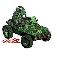 camo photo album gorillaz album