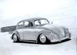 volkswagen drawing my latest drawing of a classic vw beetle cruising along the beach
