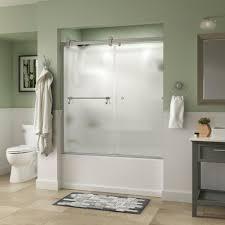 franklin brass 60 in x 56 3 4 in framed sliding bathtub door in