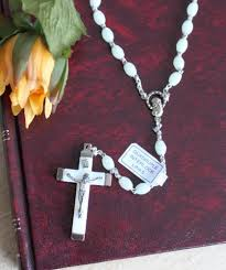 glow in the rosary glow in the italian religious rosary necklace in
