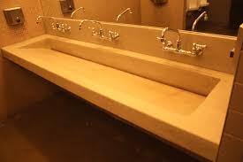 troff sinks bathroom inch black bathroom vanity trough sink home hardware vanities img