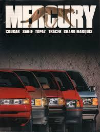 ford 1990 mercury sales brochure