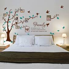 home design family tree wall decal with frames powder room home