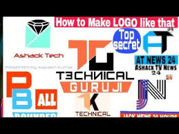 how to make your own professional logo like technical guruji in