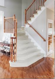Stair Banisters And Railings How To Makeover Your Stairs Tips To Replace Carpet And Install