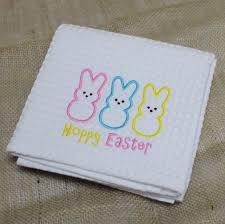 Waffle Weave Kitchen Towels Hoppy Easter Waffle Weave Towel Monogram Express