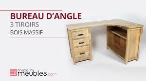 bureau en bois massif bureau d angle en bois massif
