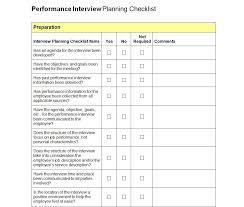 meeting planner checklist template interview checklist job interview checklist