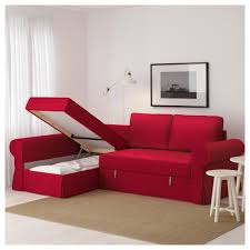 Sofa Bed Chaise Lounge by Backabro Sofa Bed With Chaise Longue Nordvalla Red Ikea