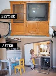 homemade play kitchen ideas turn an old cabinet into a kid s diner diners kids s and