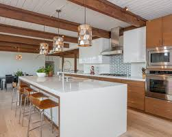 houzz kitchen backsplash ideas 70 best midcentury modern kitchen with glass tile backsplash