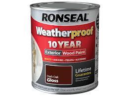 ronseal rslwpdog750 750 ml weatherproof exterior wood paint dark